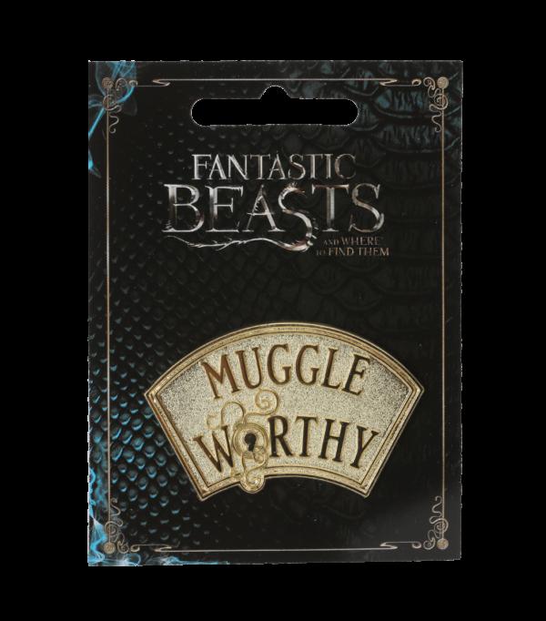 Pin Badge Muggle Worthy001 Boutique harry potter Badge d'épingle digne d'un moldu