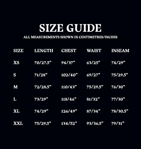 Size Guide Unisex Adult PJ Set 3c67d318 4454 40c6 8c1a 696d8a344e93 Boutique harry potter pyjama harry potter