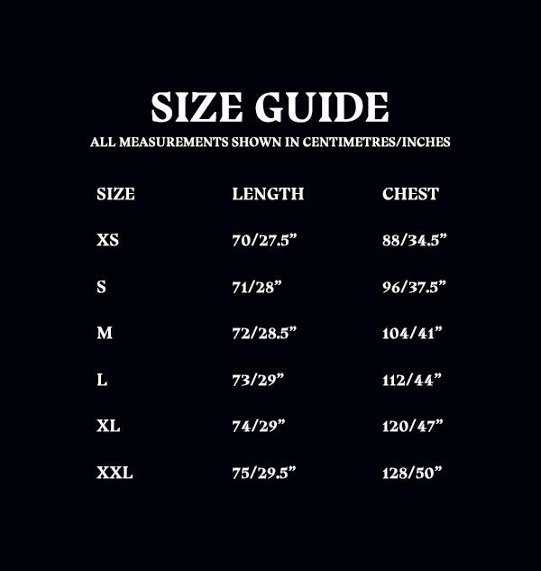 Size Guide Unisex Adult Tshirt 55aba50a b90d 4029 a15a 0881702fce33 Boutique harry potter T-shirt gris Poudlard Bold Crest