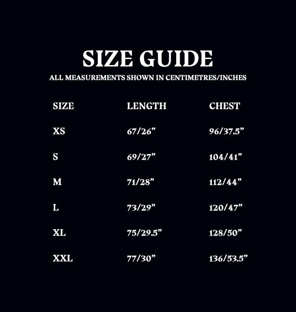 Size Guide Unisex Adult Zip Thru Hooded Top 14bfa896 c6d0 4406 8c15 d149108b942d Boutique harry potter Sweat Harry Potter