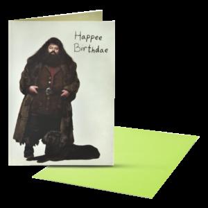 Carte d'anniversaire Pop-Up Hagrid