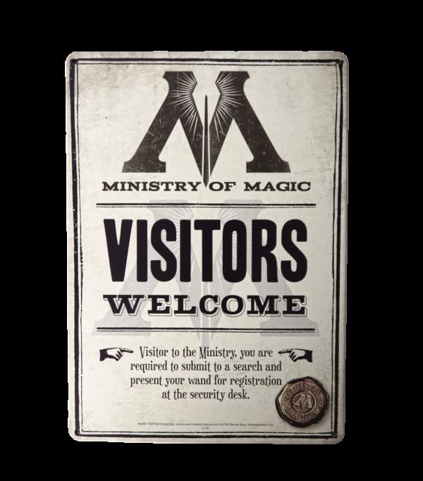 Panneau mural Visiteurs bienvenus Ministère de la Magie