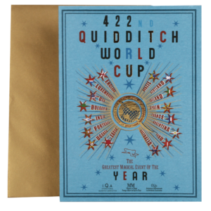 preview full Quidditch World Cup Notecard001 La boutique Harry Potter Acceuil