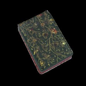 Porte-cartes de voyage tapisserie famille noire