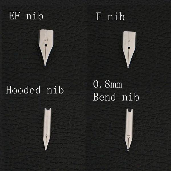 Différentes plumes de stylos plume