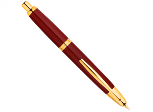 stylo montblanc de luxe sur fond blanc