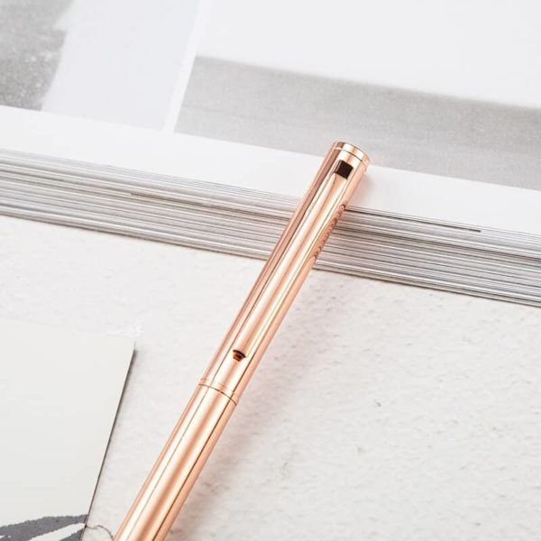 stylo à bille montblanc doré