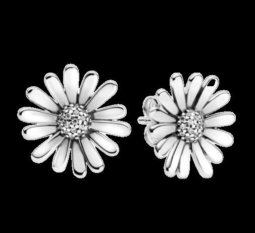 Boucles d oreilles en argent Sterling 925 pour femme bijoux Pandora authentiques en forme de marguerite.jpg 640x640 removebg preview