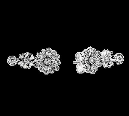 Boucles d oreilles en argent Sterling 925 pour femme bijoux Pandora authentiques en forme de marguerite.jpg 640x640 2 removebg preview