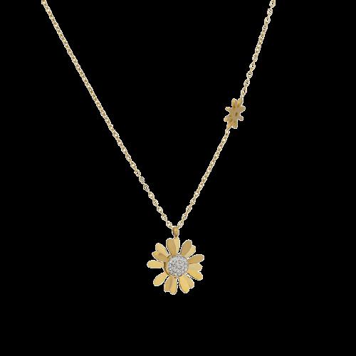 Yhpup collier ras du cou en acier inoxydable pour femmes pendentif fleur marguerite la mode Texture.jpg 640x640 removebg preview