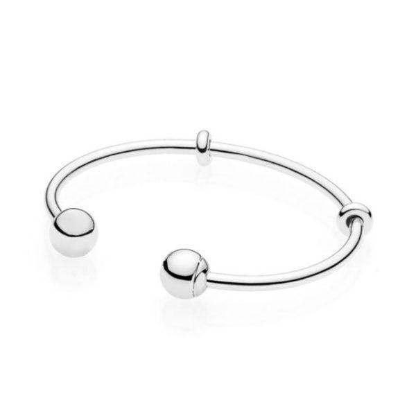 Bracelet classique original en argent Sterling 100 925 avec perles rondes id al pour no