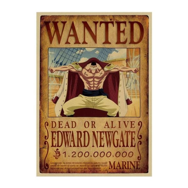 poster one piece barbe blanche