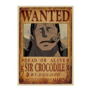 poster one piece crocodile