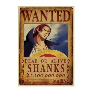 poster one piece shanks