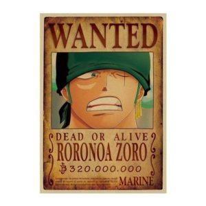 poster one piece zoro