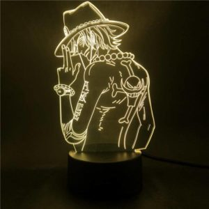 lampe one piece portgas d. ace