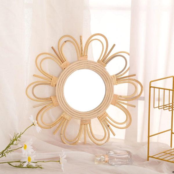 Grand-Miroir-mural-rond-soleil-en-rotin-Jabilune