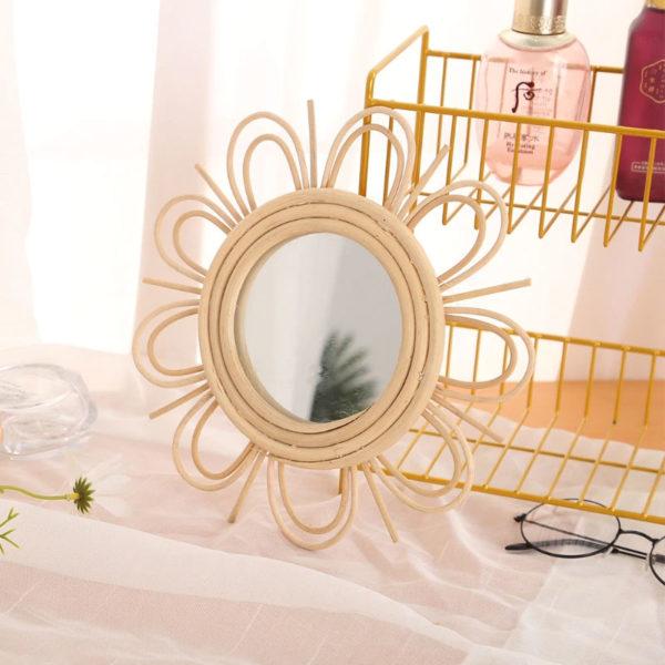 Jabilune-petit-Miroir-mural-rond-soleil-en-rotin