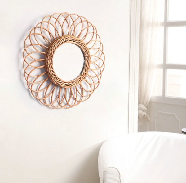 Miroir-soleil-murale-rond-rotin-Jabilune