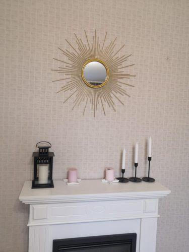 Miroir mural suspendu en métal moderne photo review