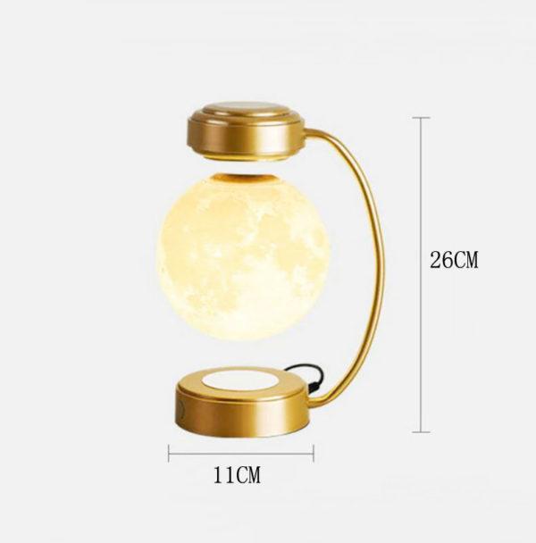 Jabilune-lampe-lune-or-lévitation-LED