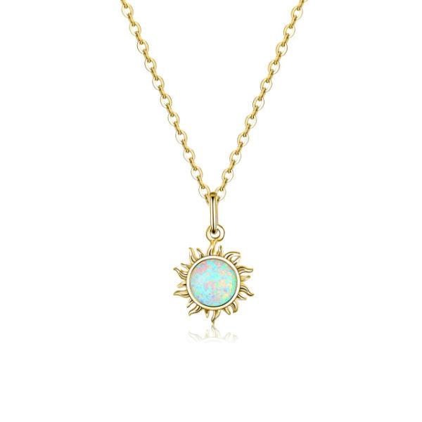 Collier-Soleil-Opale-Blanche-couleur-or