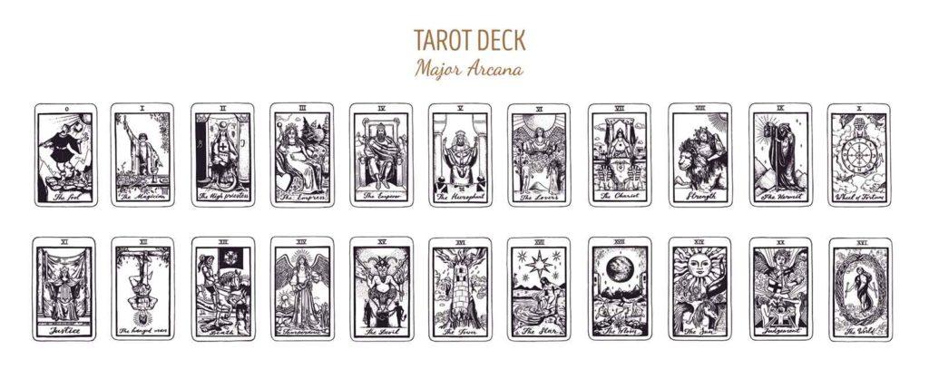 Tarot deck major arcana