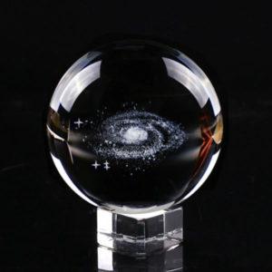 Globe en verre galaxie noir et blanc