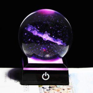 Globe en verre système planète