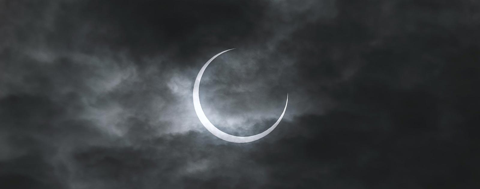 croissant de lune avec nuage