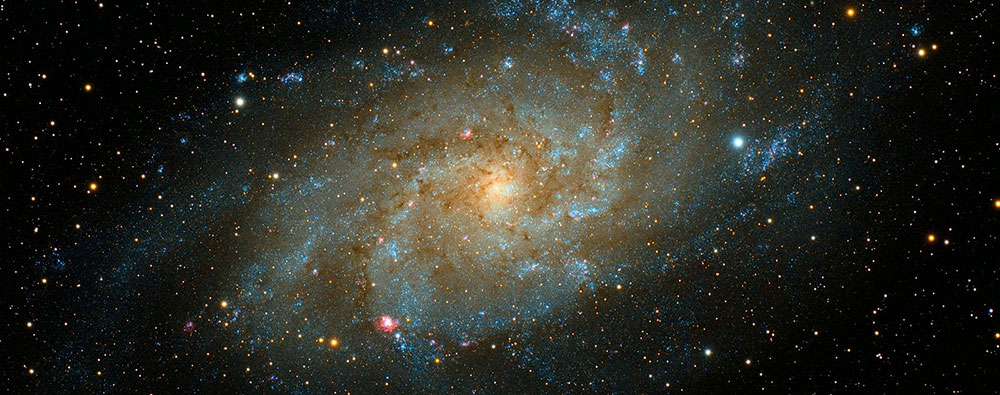 galaxie et planete central
