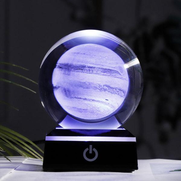 globe en verre planète Jupiter