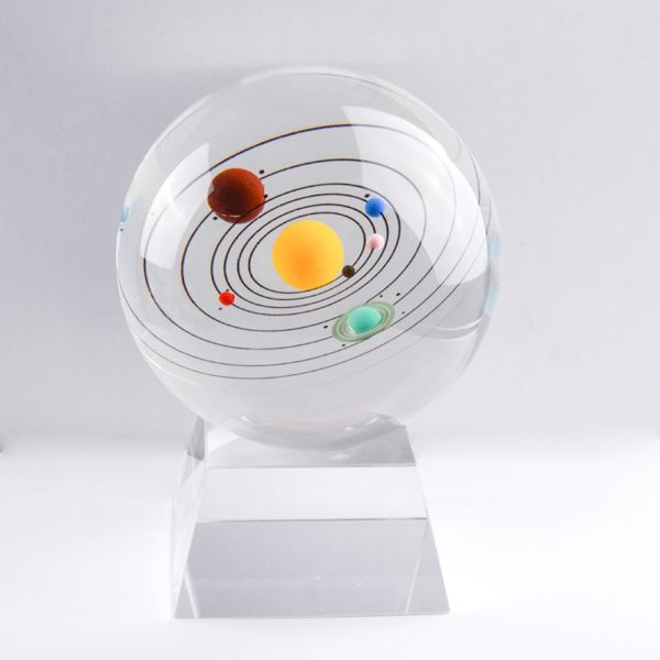 globe en verre socle cristal