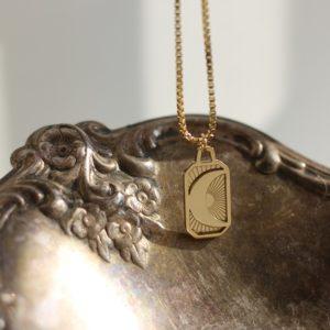 collier-pendentif-croissant-lune-Acier