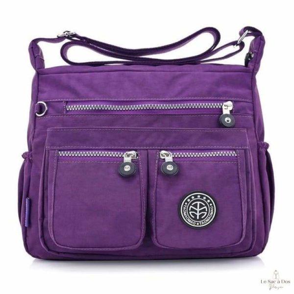 Sac à Bandoulière Messager - purple / 29x22x12cm