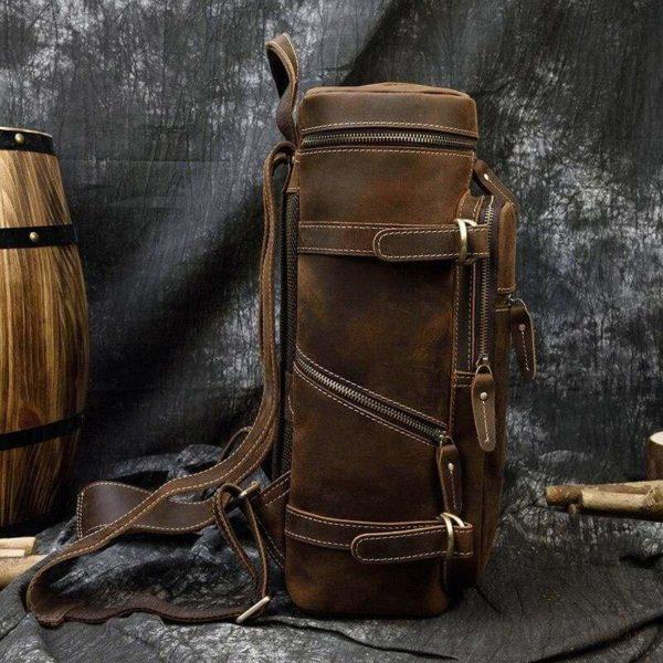 Sac à Dos en Cuir Neely - dark brown - Sacs à dos