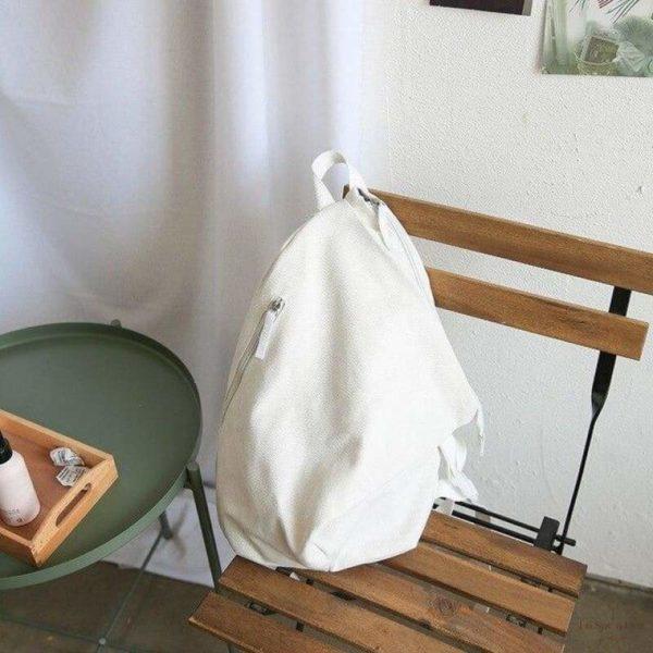 Sac à Dos Meritt en Toile - Blanc / 39x29x14cm