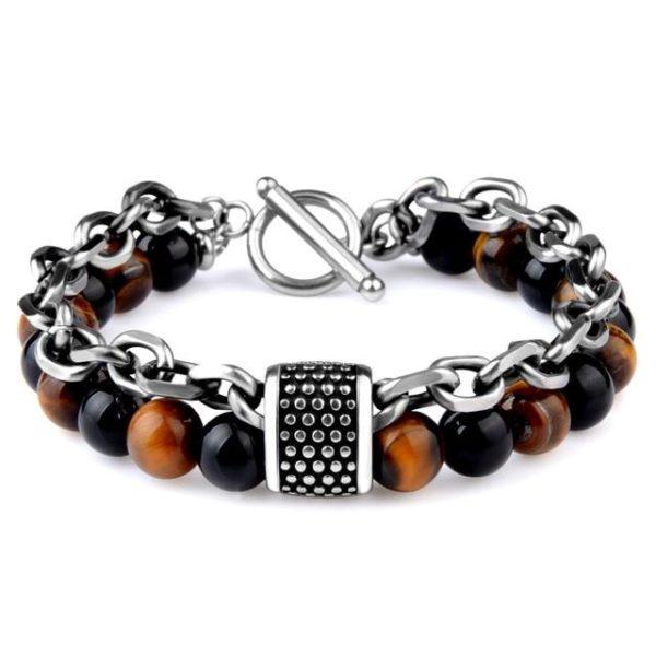 Bracelet oeil De Tigre Avec Chaine