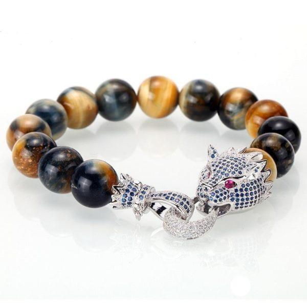 Bracelet oeil De Tigre Dragon Ruby