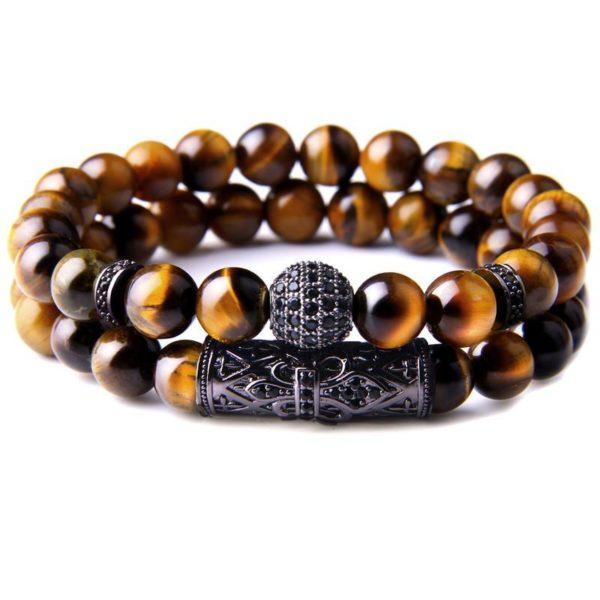 Bracelet Œil De Tigre Fashion Black