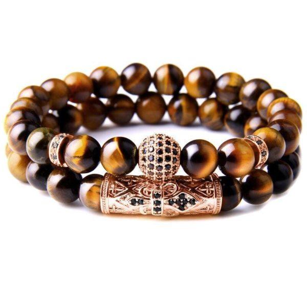 Bracelet Œil De Tigre Fashion Cuivre
