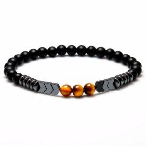 Bracelet oeil De Tigre Trois Sphère