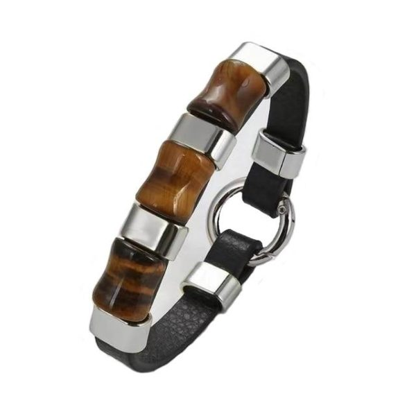 Bracelet oeil De Tigre  & Anneau D'Argent