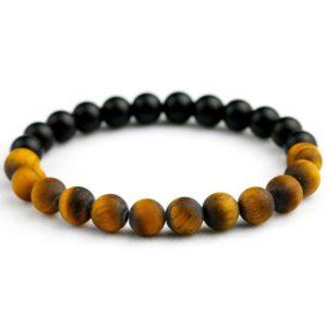 Bracelet oeil De Tigre & Black Onyx