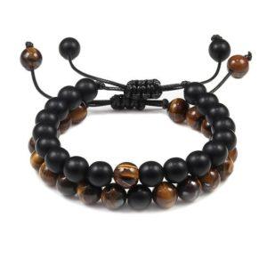Bracelet Œil De Tigre & Bracelet Hématite 2