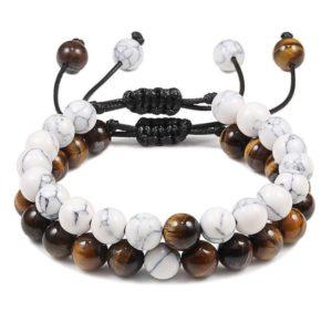 Bracelet Œil De Tigre & Bracelet Perle Marbre 2
