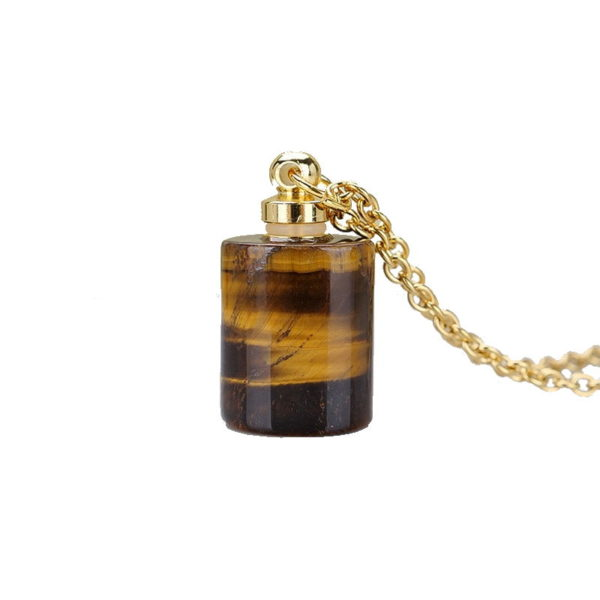 Pendentif Oeil De Tigre Parfum or