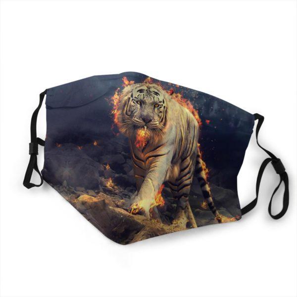 masque tigre enflammé