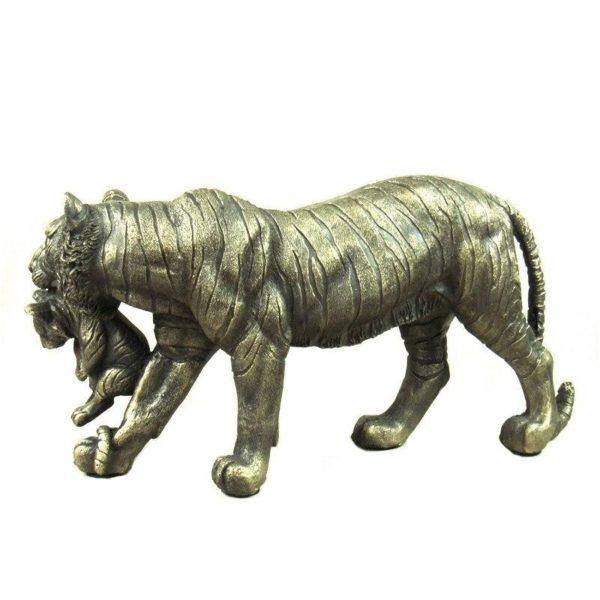 Statue Tigre Baby & Mother profil