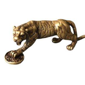 Statue Tigre Fauve Féodal